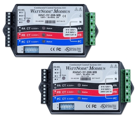 Picture of WattNode® Modbus - kilowatt hour kWh energy and power meter